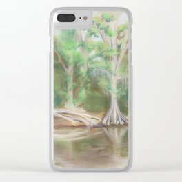 Cypress by the Waccamaw River Clear iPhone Case