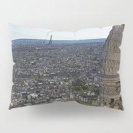 Comic Paris Pillow Sham
