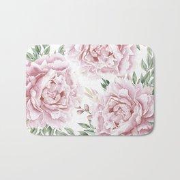 Coaral Watercolor Roses Bath Mat