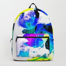 Dream world abstract acrylic painting Backpack