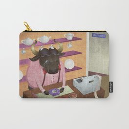 A-Z Animal, Bull Sales Person - Illustration Carry-All Pouch