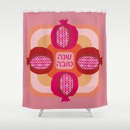Jewish New Year Pomegranate Shower Curtain