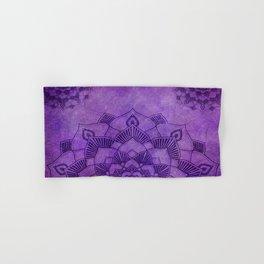 Deep Purple Lotus Mandala Hand & Bath Towel
