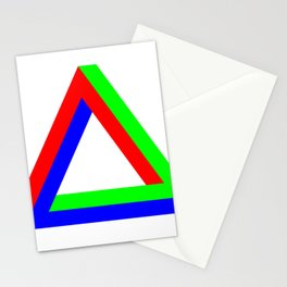 Penrose Triangle RGB Stationery Cards