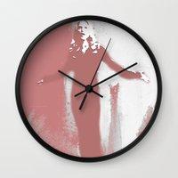 buffy the vampire slayer Wall Clocks featuring Buffy the Vampire Slayer - OMWF by Laura