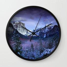 Yosemite in Winter Wall Clock