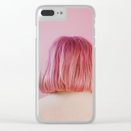 vanessa (pink hair) Clear iPhone Case