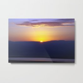 Dead Sea Sunrise Metal Print