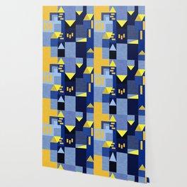 Blue Klee houses Wallpaper