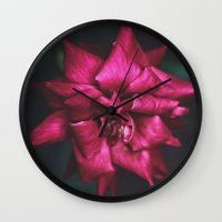 yin yang Wall Clocks featuring Yin // Yang by BURNEDINTOMYHE∆RT♥