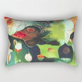 """Inner Whisper #1"" Original Painting by Flora Bowley Rectangular Pillow"
