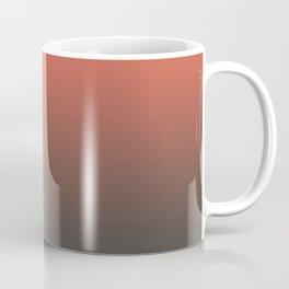 Pantone Living Coral & Beluga Gray Gradient Ombre Blend, Soft Horizontal Line Coffee Mug