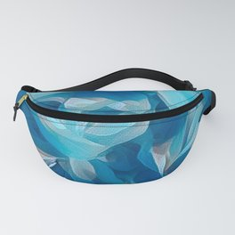 Shades of Blue Abstract Nature Design Fanny Pack