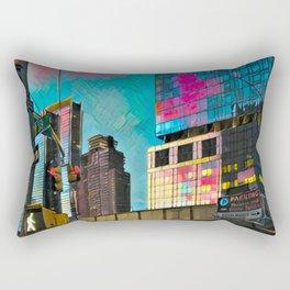 NYC Skyline at Sunset Rectangular Pillow