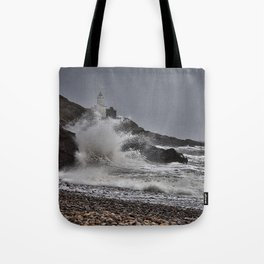 Mumbles Wild Waves. Tote Bag