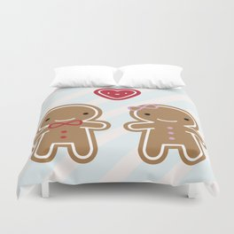 Cookie Cute Gingerbread Couple Duvet Cover