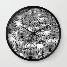 Animal Crowd Wall Clock