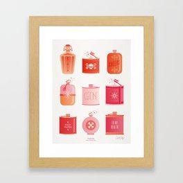 Flask Collection – Pink/Peach Ombré Palette Framed Art Print