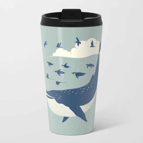 Fly in the sea Metal Travel Mug