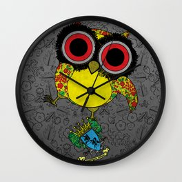 Printed Owl Wall Clock
