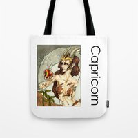 capricorn Tote Bags featuring Capricorn by TammyWitzens