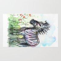 zebra Area & Throw Rugs featuring Zebra by Olechka