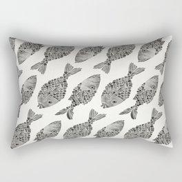 Indonesian Fish Duo – Black Palette Rectangular Pillow