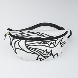 Mythical Dragon Breathing Fire Mascot Fanny Pack