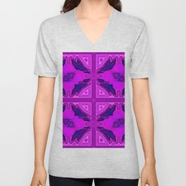 Softly lilac ornamentation Unisex V-Neck