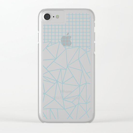 Ab Outline Grid Salty Clear iPhone Case