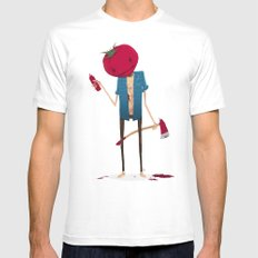 Ketchup? SMALL White Mens Fitted Tee
