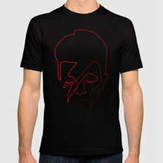 One line Aladdin Sane SMALL Mens Fitted Tee Black
