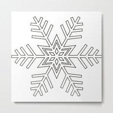 Snowflake | Black and White Metal Print