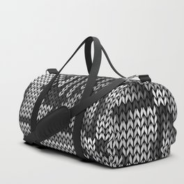 grey knit Duffle Bag