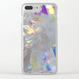 Aurora Borealis Crystals Clear iPhone Case