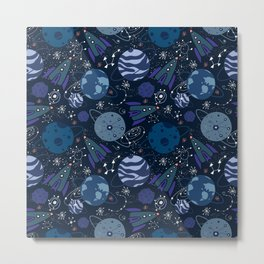 Space, Galaxy, Planets, Outer space Metal Print