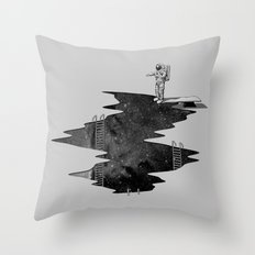 Space Diving Throw Pillow