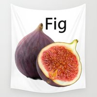 fig Wall Tapestries featuring Fig by PerfectImperfections