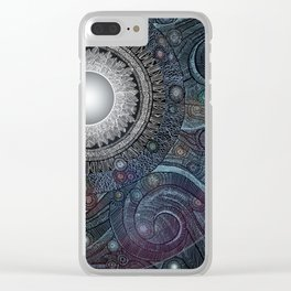Feather Moon Clear iPhone Case