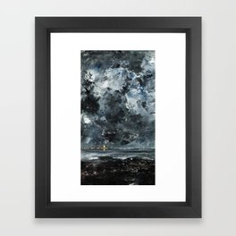 August Strindberg - The Town Framed Art Print