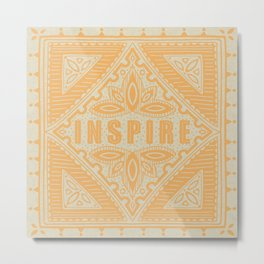 INSPIRE - Vintage Illustration Metal Print