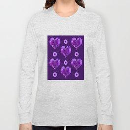 Violet heart buttons Long Sleeve T-shirt