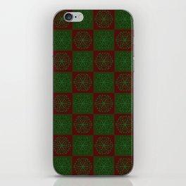 Navidad Bicolor a Cuadros 1 iPhone Skin