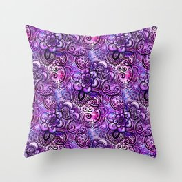 Purple Paisley Vision Throw Pillow