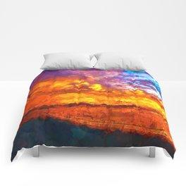 Beach Sunset I Comforters
