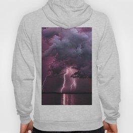 Lightening Strike in Purple Storm Hoody