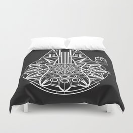 Millennium Falcon Mandala Illustration Duvet Cover