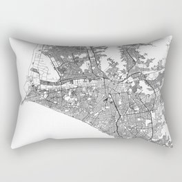 Lima White Map Rectangular Pillow