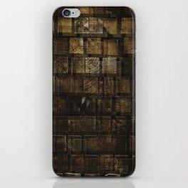 Wood Block two iPhone Skin