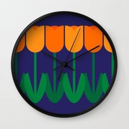 Tulip Time Wall Clock